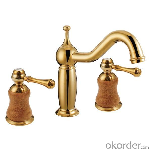 Hot Sale Gold Plated Faucet With Two Handles