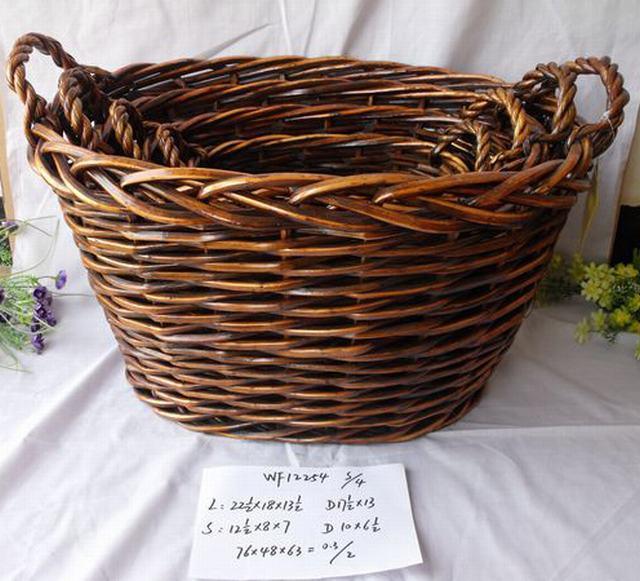 High Quality Hand Made Oval Shape Home Storage Basket 3Pcs/Set