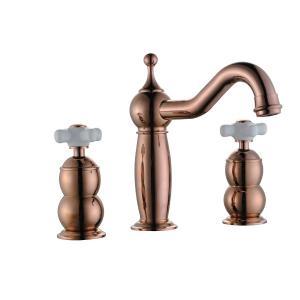 Modern Rose Gold Plated Bath Faucet