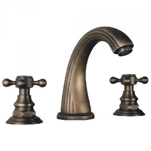 Hot Selling Antique Plated Faucet Mixer Two Handles
