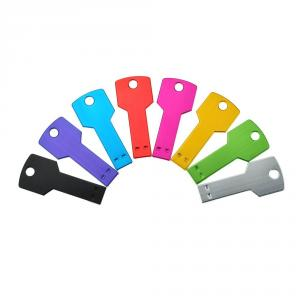 8pcs 2GB Metal Key Shaped USB Flash Drive 8 Colours