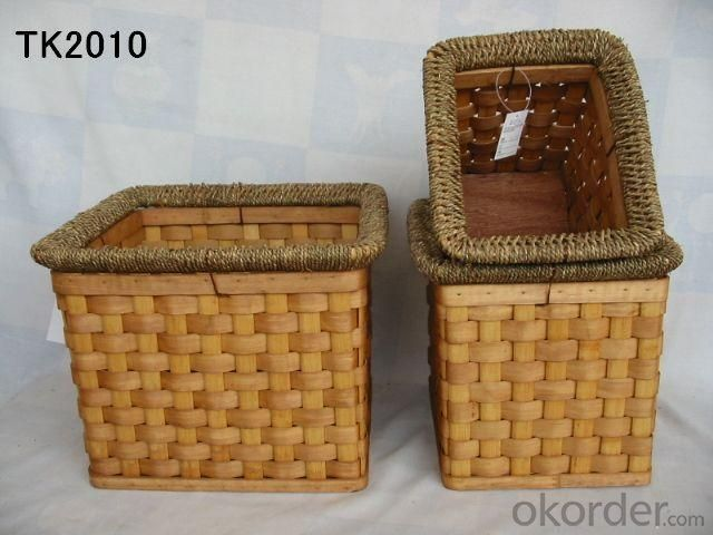 Hot Sale Home Storage Rectangle Set Of Three Basket