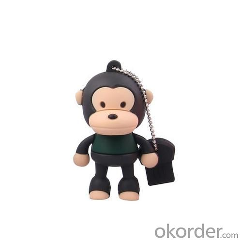 2GB Cute Mini Cartoon Monkey USB Flash Memory Stick Drive Black And Green