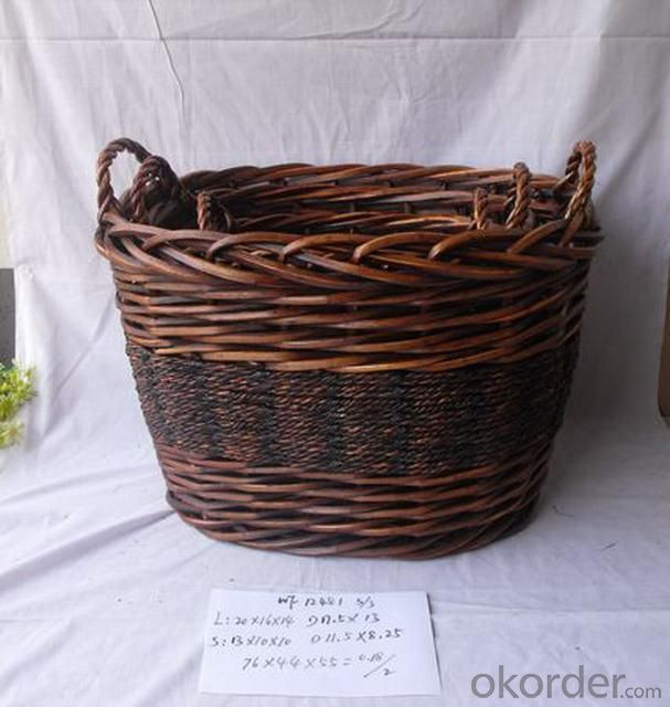 High Quality Home Organization Home Storage Basket Oval Woven Basket