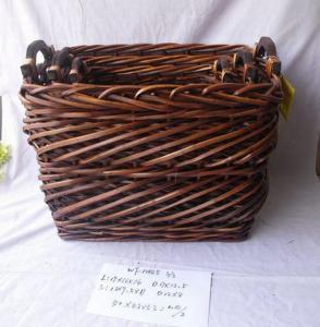 High Quality Home Organization Rectangle Woven Basket Home Storage Basket