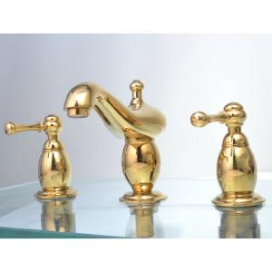 Gold Plated Double Hadle Faucet