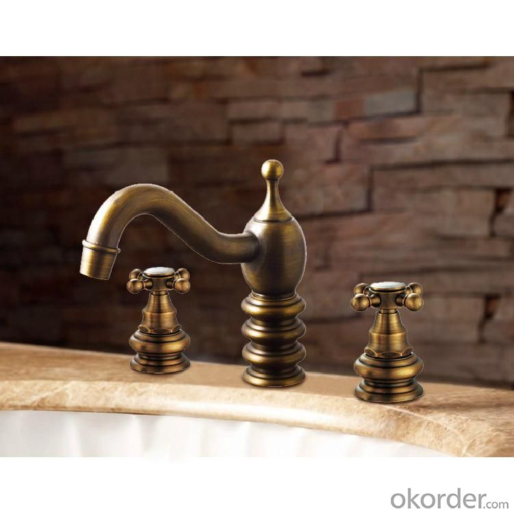 Modern Rose Gold Plated Bath Faucet
