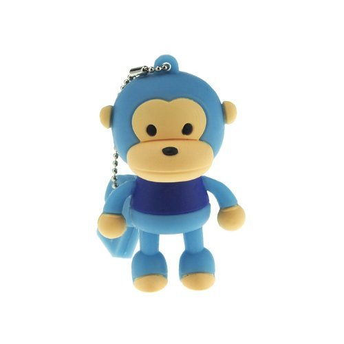 2GB Cute Mini Cartoon Monkey USB Flash Memory Stick Drive Blue
