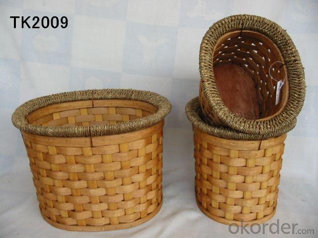 Hot Sale Home Storage Oval Shape Set Of Three Basket