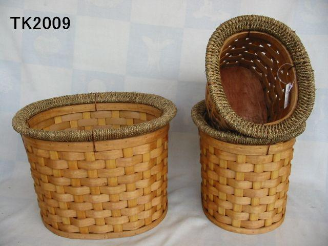 Hot Sale Home Storage Oval Shape Set Of Three Basket