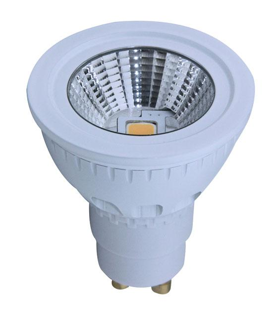 Dimmable LED 5W Ceramics Spot Light Gu10/E27 COB LED Chip 90-120V or 200-240V