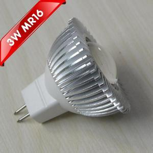 LED 3W Spot Light MR16 Aluminum  Housing Convex Lens 12V/24V