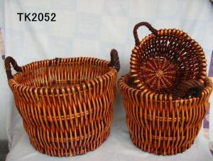 Hot Sale Home Storage Set Of Three Basket With Handle