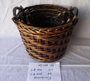 High Quality Hand Made Round Shape Home Storage Basket 3Pcs/Set