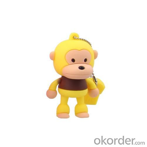 2GB Cute Mini Cartoon Monkey USB Flash Memory Stick Drive Yellow And Brown