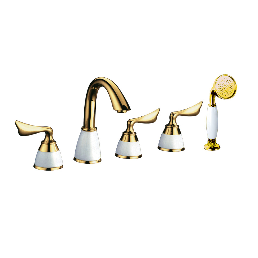 New Design Gold Plated Faucet With Shower