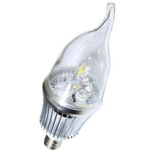 Dimmable Factory LED Bent-tip Bulb Silver Aluminum 5x1W E14 180lm LED Candle Bulb Light