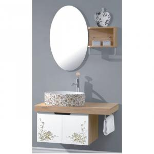 Popular Nature Oak Bath Cabinet