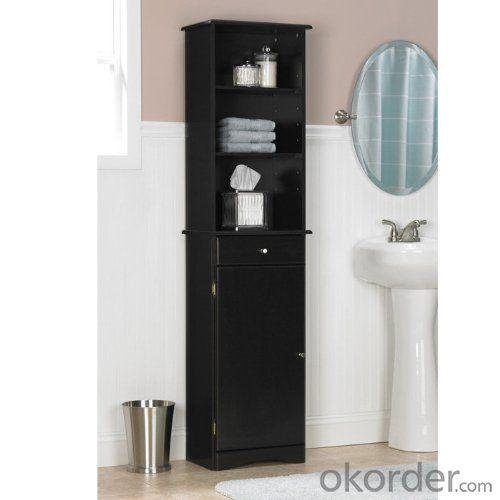 High Quality Black Bath Storage Bath Cabinet