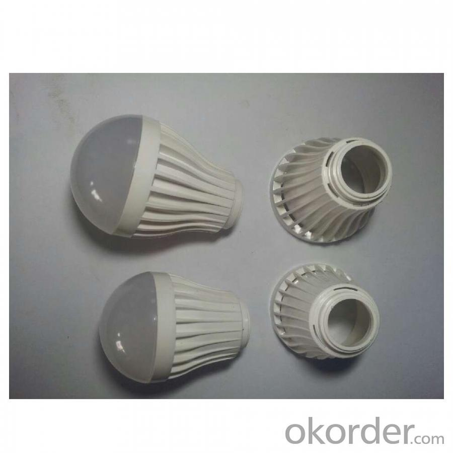 SMD 2835 E27/E26/B22 5W LED Bulb Light PMMA Cover+Plastic Radiator Epistar