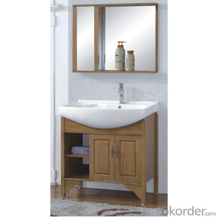 Ceramic Top Oak Bathroom Cabinet