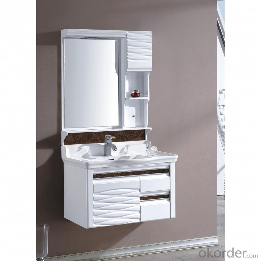 High End White Bathroom Mirror Cabinet