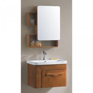 Luxury Design Oak Bath Cabinet Ceramic Top Bath Vanity