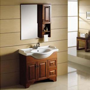2014 Oak Solid Bathroom Cabinet Antique