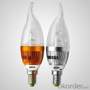 LED Bent-tip Bulb High Quality Silver Aluminum 4x1W E14 180lm 85 to 265V LED Candle Bulb Light Spotlight Downlight