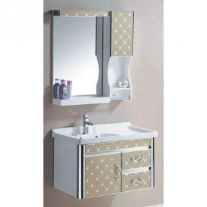 New Fashion Beige PVC Bathroom Furniture Bathroom Cabinet