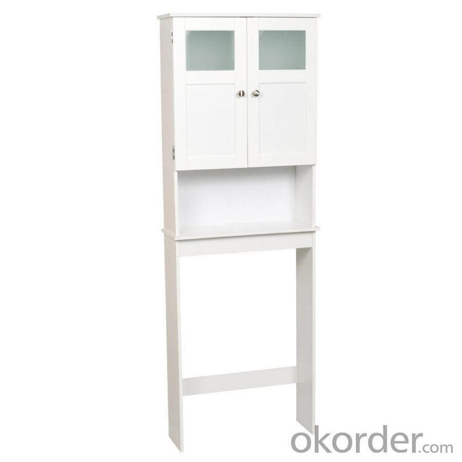 Modern White Bath Shelf Bath Cabinet Space Saver