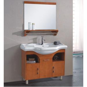 Large Capacity Oak Bath Cabinet Bath Vanity