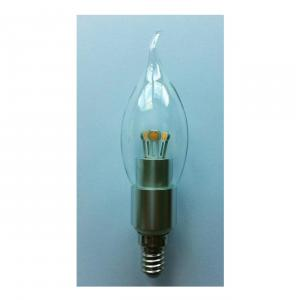 LED Bent-tip Bulb High Quality Silver Aluminum 4W Ra85 E14 280lm  85-265V COB LED Chip Clear/Frosted/Milky Glass Cover