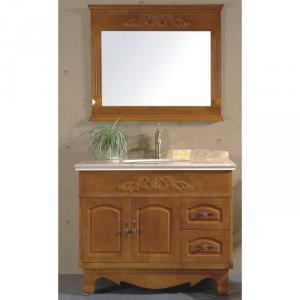 High End Oak Bath Cabinet Bathroom Vanity