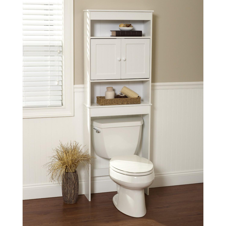 High End White Space Saver Bath Shelf Bath Cabinet