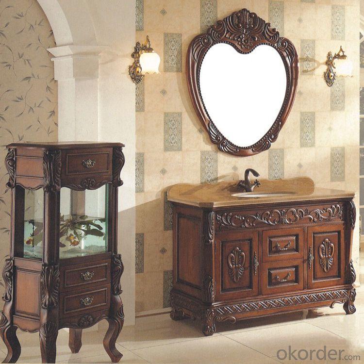 2014 Good Quality New Wood/Oak Bathroom Cabinet
