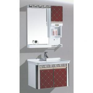 New Fashion Red PVC Bathroom Furniture Bathroom Cabinet