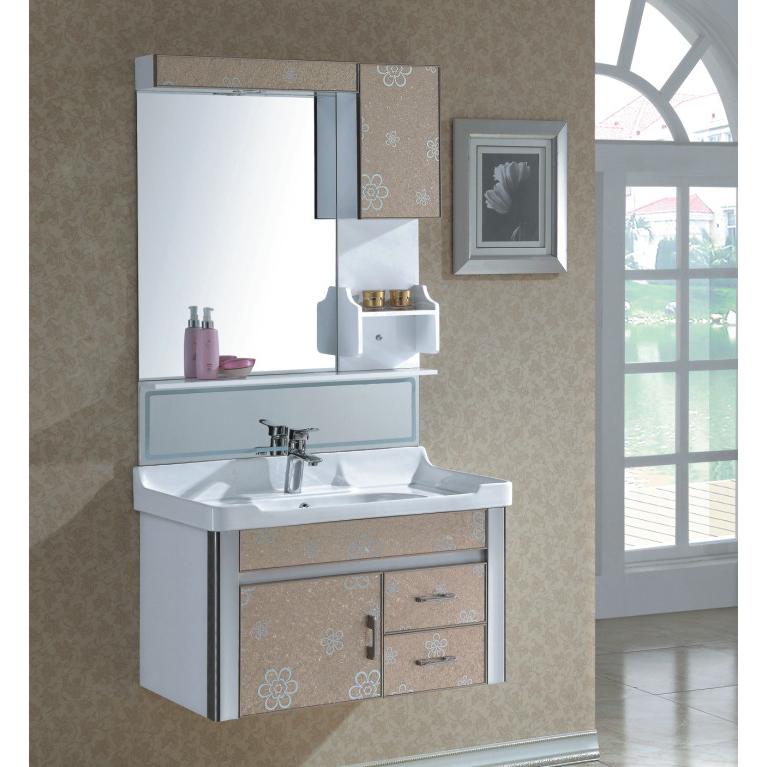 High Quality Flower Pattern Ceramic Top Bath Cabinet