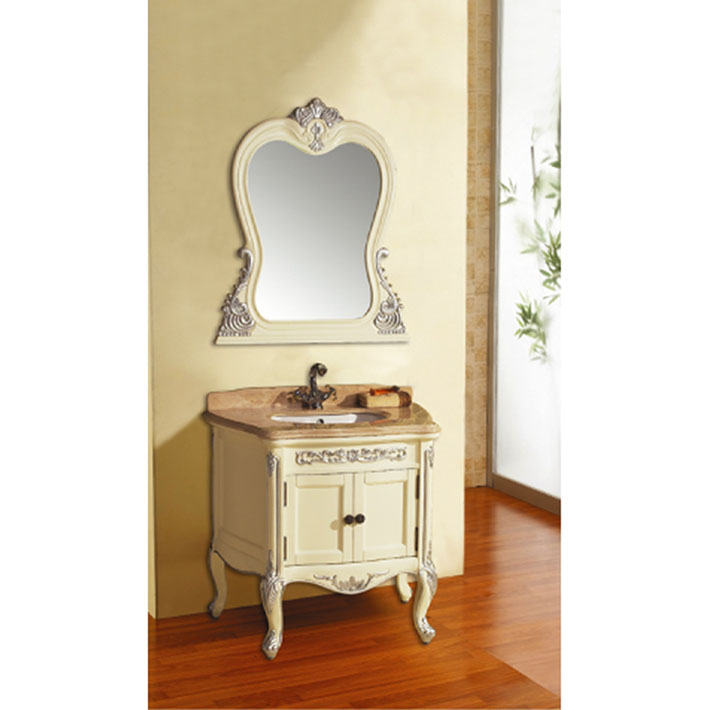 High Quality Oak White Bathroom Cabinet Bath Vanity
