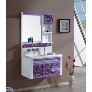High Quality Classical Modern Purple Ceramic Top Bath Mirror Cabinet