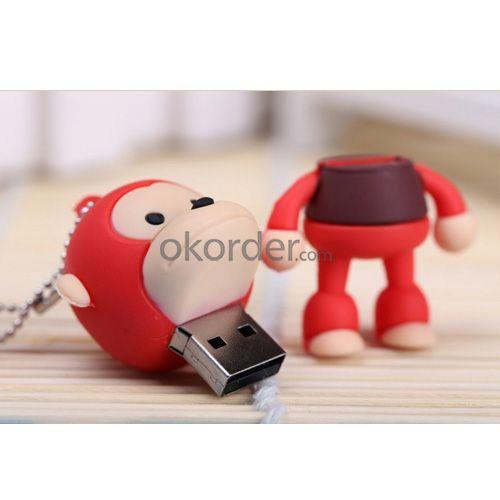 8GB Cute Mini Cartoon Monkey USB Flash Memory Stick Drive Red