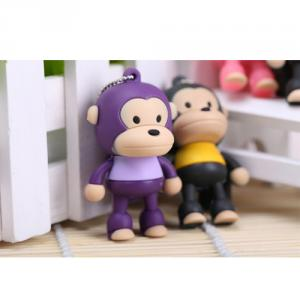 8GB Cute Mini Cartoon Monkey Portable USB Flash Memory Stick Drive Purple