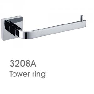 New Design Exquisite Decorative Bathroom Accessories Set Robe Hook and Towel Ring and Towel Bar