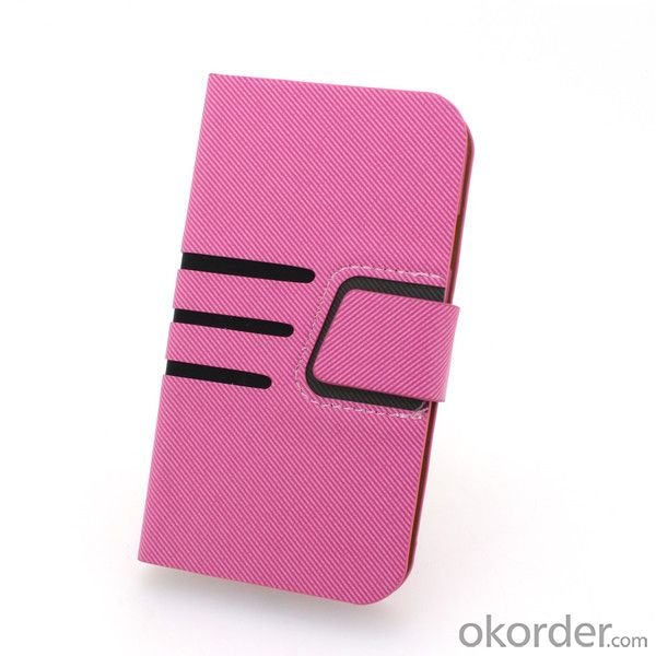 For iPhone4/4S Wallet Pouch Cross Pattern PU Leather Stand Case Cover Pink