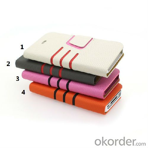 4 multi colors iphone 5 leather case