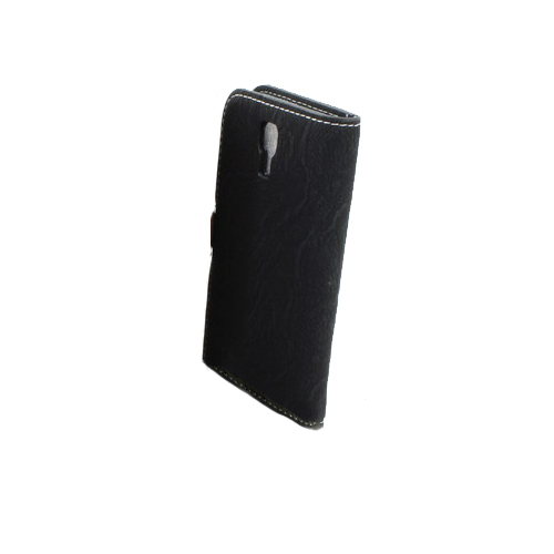Black Wallet Pouch PU Leather Stand Case Cover for Samsung Galaxy S4 (I9500)
