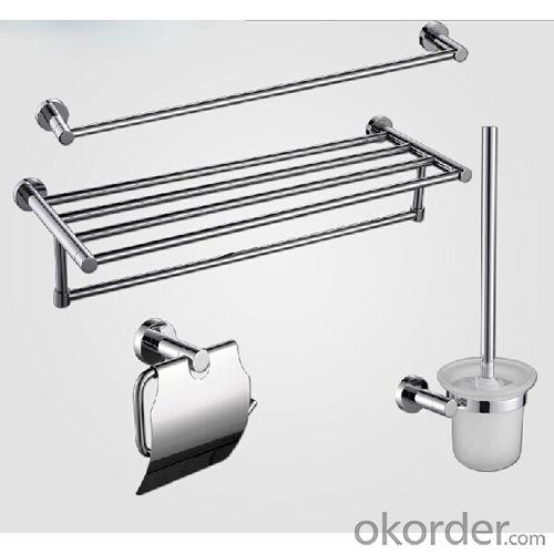 New Design Exquisite Decorative Bathroom Accessories Solid Brass Toilet Brush Holder