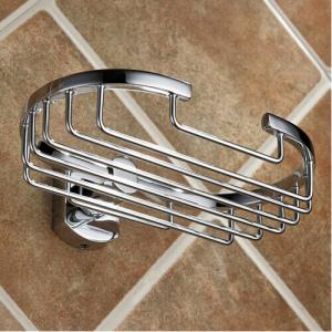 Hot Sale, New Design Exquisite Decorative Bathroom Accessories Solid Brass Soap Basket