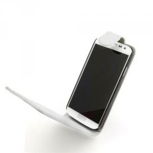 Luxury PU Leather Flip Case Cover for Samsung Galaxy S4 (I9500) White