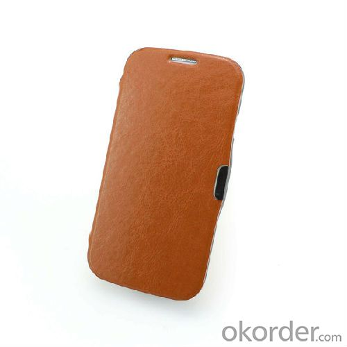 brown galaxy s4 smart cover case